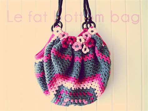 crochet pattern fat bottom bag purple chair crochet fat bottom bag wip