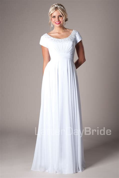 Lds Wedding Dress by Lds Temple Wedding Dresses Flower Dresses