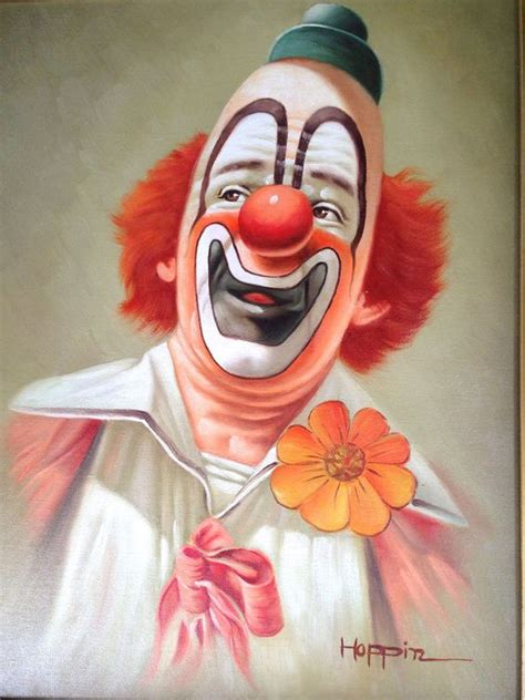 clown paint clowns on canvas and creepy circus on