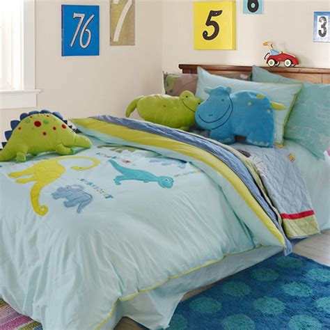 Colorful Mart Naughty Dinosaur Sky Blue Dinosaur Bedding Set Dinosaur Bedding
