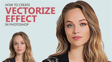 photoshop tutorial create vector painting effect