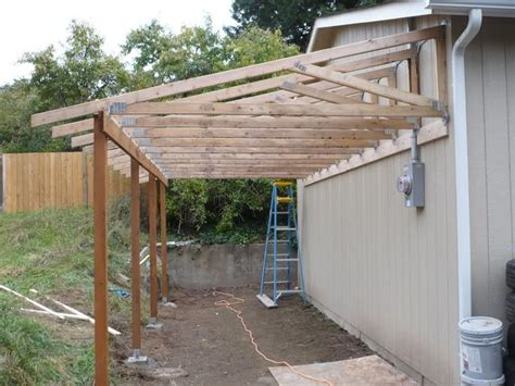 best 25 lean to carport ideas on patio shed