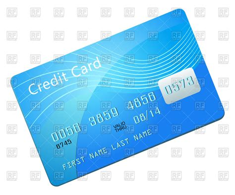 Blank Credit Card Template Vector Credit Card Blank Blue Template Royalty Free Vector Clip Image 58402 Rfclipart