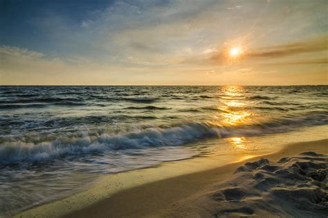 gulf of mexico dauphin island sunset al photograph by