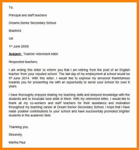 Resignation Letter Retirement 12 Retirement Resignation Letter To Employer Forklift Resume