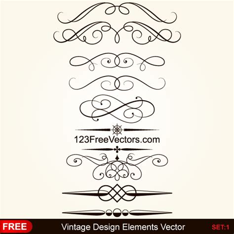 border decorative vintage elements vintage calligraphic decorative elements vector download