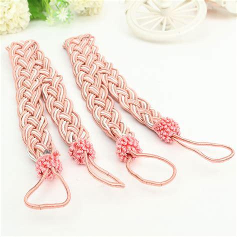 knitted curtain tie backs 2pcs vintage knitted rope window curtain tiebacks fringe