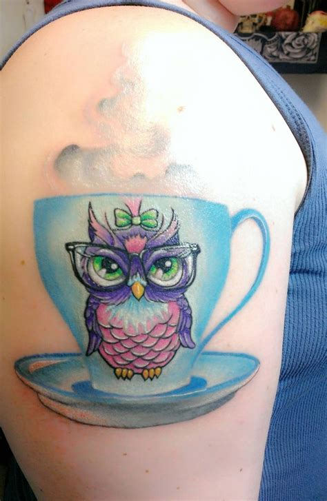 cute owl tattoo nerdy owl tattoos