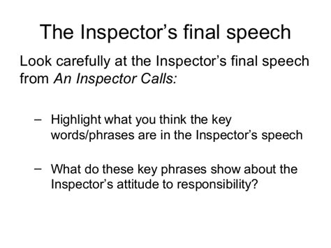 key themes in an inspector calls an inspector calls exam