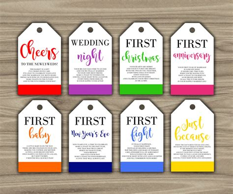printable gift basket tags milestone wine tags bridal shower gift basket tags first