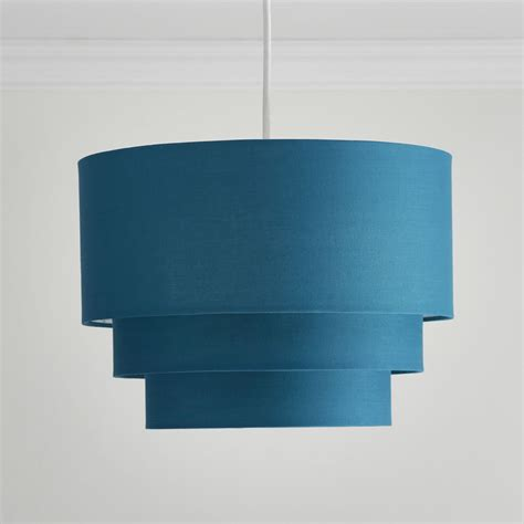 Small Teal L Shade by Wilko 3 Tier Shade Teal At Wilko