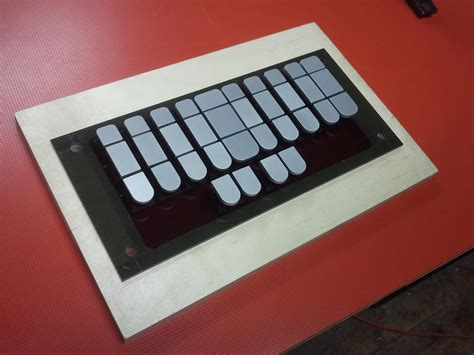 grid layout keyboard stenosaurus second prototype crowd supply