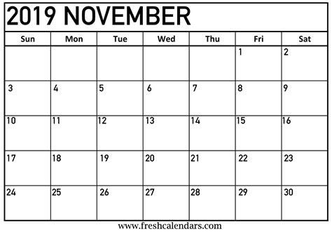 november  calendar printable fresh calendars