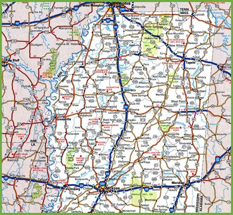 map of northern usa map of northern mississippi