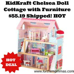 kidkraft chelsea doll cottage with furniture 55 19