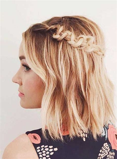 cute hairstyles braids short hair 40 cute hairstyles for short hair short hairstyles 2017