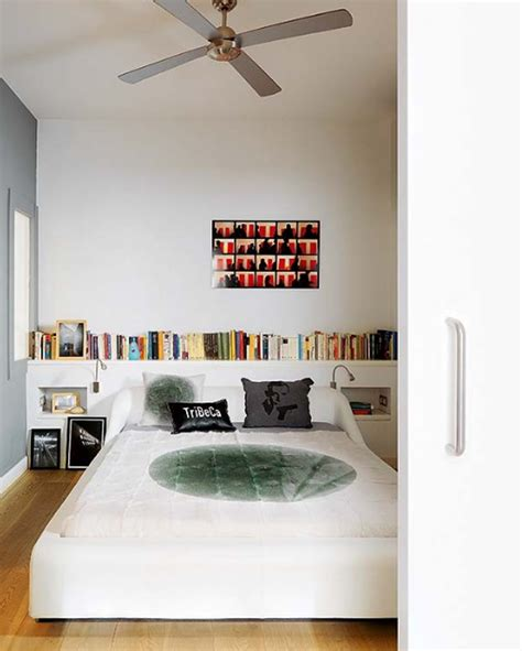 white and modern apartments with clever bookshelves ideas