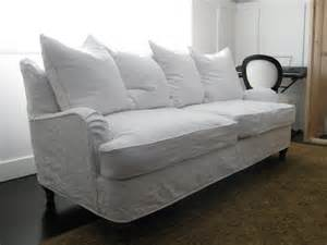 custom slipcovers by shelley white linen couch and chair
