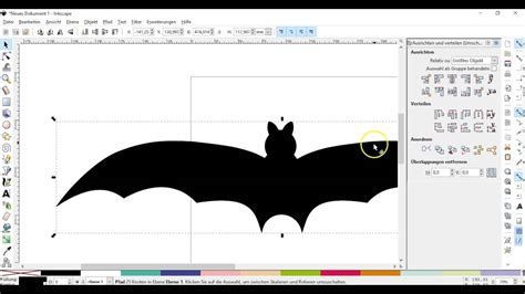 inkscape tutorial deutsch video inkscape tutorial eine fledermaus als plottervorlage