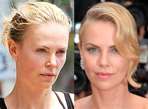 charlize theron from stars without makeup e news