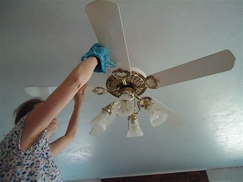 how to clean ceiling fans how to clean a ceiling fan 4 weeks to a more organized