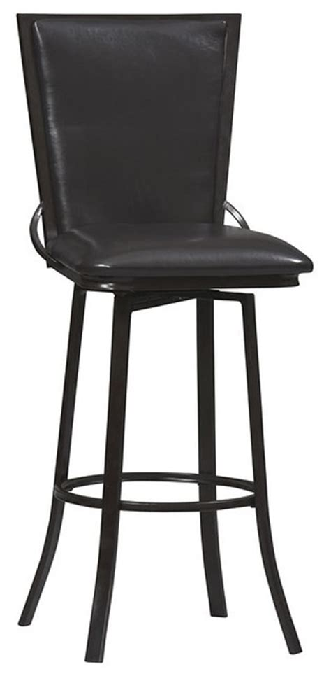 30 swivel bar stools with back traditional linon vinyl back 30 quot high swivel bar stool