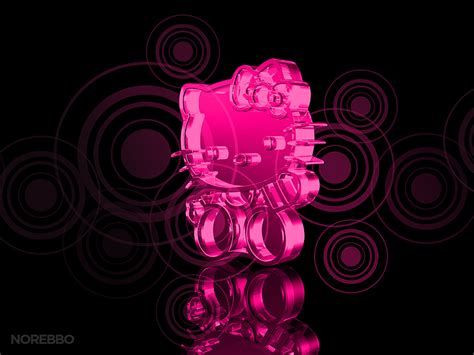 wallpaper hello kitty black and pink hello kitty black and pink wallpaper wallpapersafari