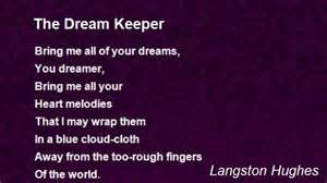 Langston hughes poems dreams keeper the dream keeper poem by