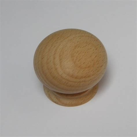 Large Wooden Knobs by Large Beech4 Wooden Sanded Door Knob