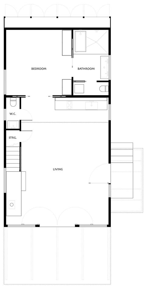 simple floor ground floor plan simple eco friendly home perched above