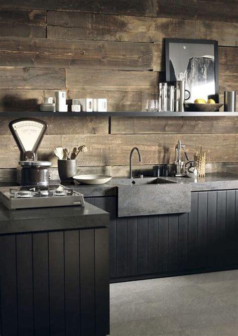 Preciosa  Mueble Ikea Blanco #8: 12b-cocina-muebles-negro-y-madera.jpg