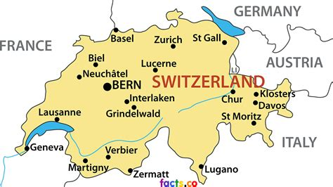 major cities in switzerland map switzerland map blank political switzerland map with cities