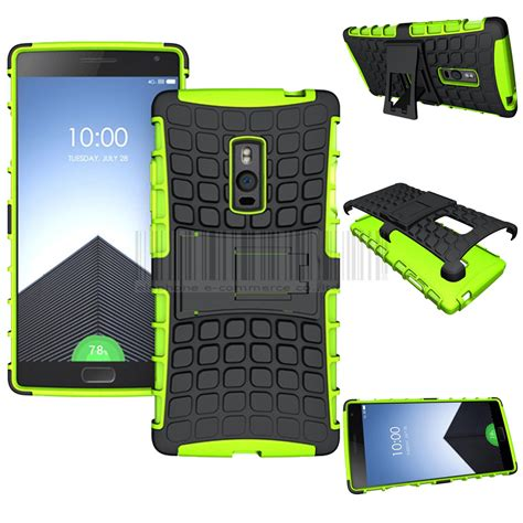 Oneplus Two 2 Rugged Shock Proof Armor Hybrid Soft Merah shockproof armor stand cover for oneplus one