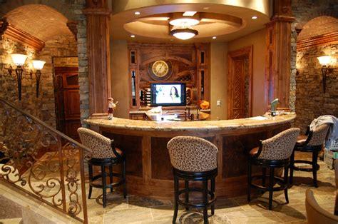 curved bar  wine room