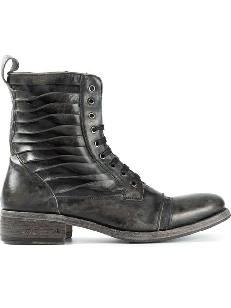 mens varvatos boots varvatos lace up boots in gray for grey lyst