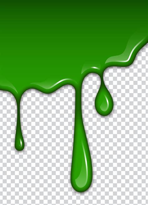 green liquid splashes  smudges slime vector