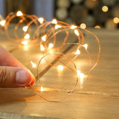 wire lights 20 warm white indoor battery copper wire lights