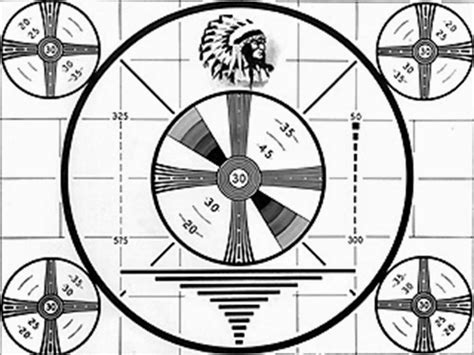 test pattern indian chuckography snip no more cable television for me