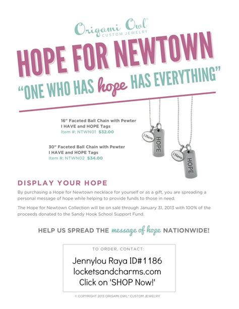 Origami Owl Back Office - only one week left for the newtown fundraiser with origami