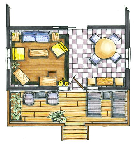 rendered floor plan drawinghand drawing hand page 11