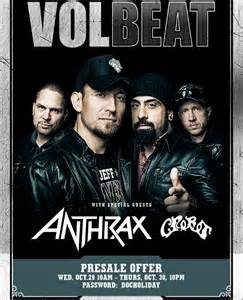 Ticketmaster Box Office Locations by Volbeat Pre Sale Now