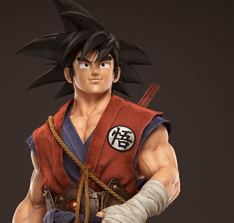 imagenes en 3d goku dragon world z son goku en 3d