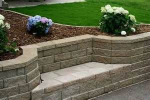 retaining wall with bench seat garden