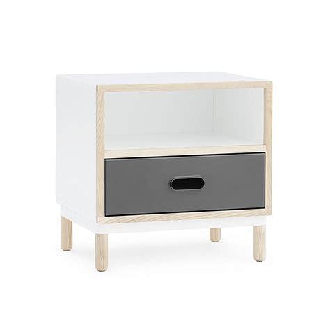 kabino bedside table by normann copenhagen - Nachttisch Grau