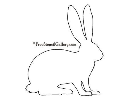 Printable Rabbit Stencils | rabbit silhouette stencil 02 free stencil gallery