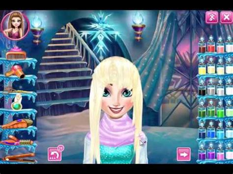 frozen haircuts games elsa frozen real haircut youtube