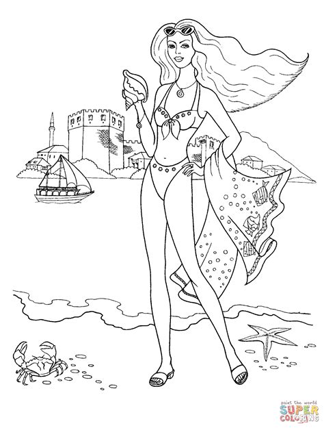 coloring page bathing suit swimming suit coloring page free printable coloring pages