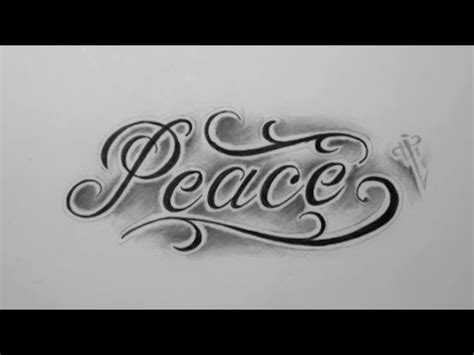 tattoo lettering youtube dise 241 o letras peace peace lettering design nosfe ink