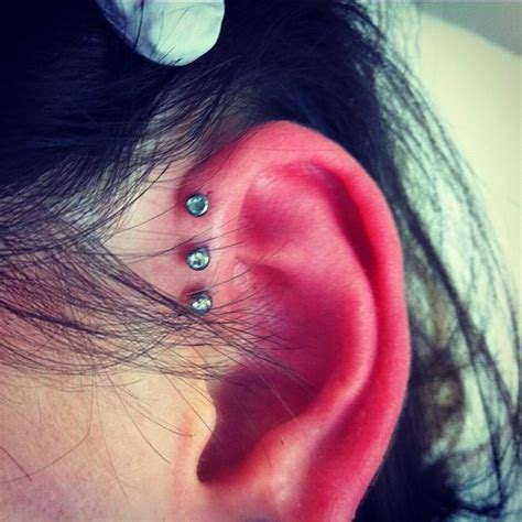 how to care for a helix or forward helix piercing 40 exles of triple forward helix piercing