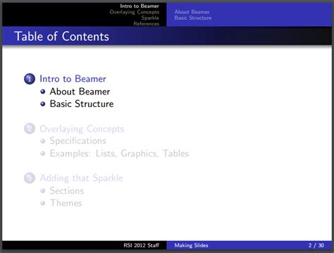 beamer latex tutorial youtube beamer highlight subsections below current section